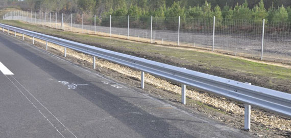 Chantier A65 rail de sécurité