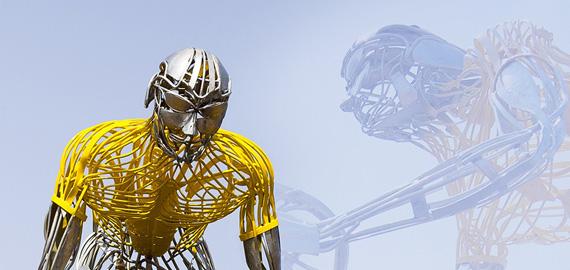 Sculpture le Cycliste