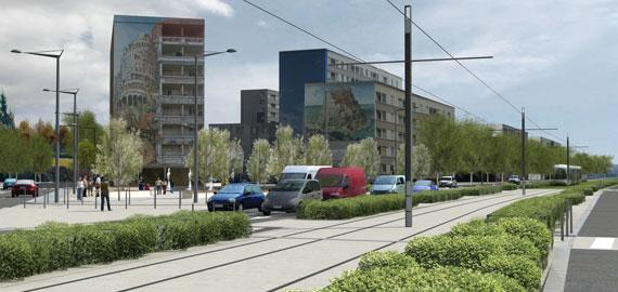 Poteau de Tramway T4 Lyon