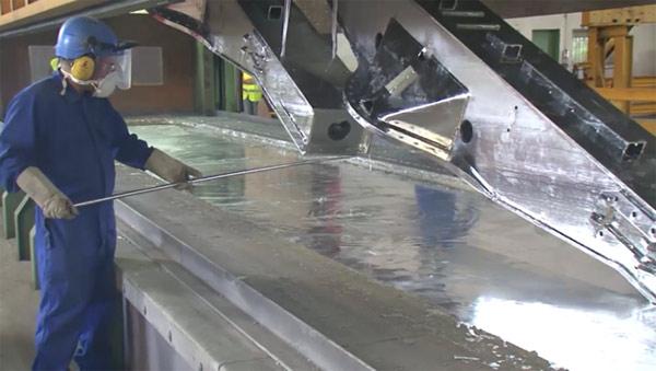 Bain de galvanisation acier