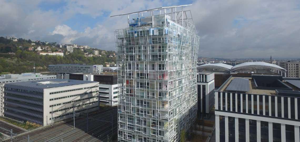 Immeuble Ycone à Lyon en acier galvanisé