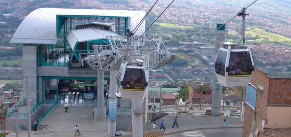 Metro aérien Colombie